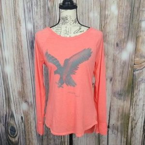 AEO Soft and Sexy Eagle Long Sleeve Top Large